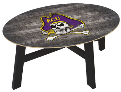 East Carolina Pirates Distressed Wood Coffee Table | fan creations | C0811-ecu
