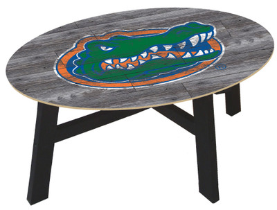 Florida Gators Distressed Wood Coffee Table |FAN CREATIONS | C0811-Florida