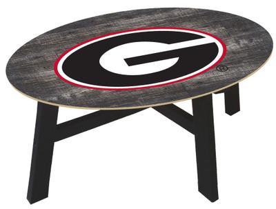 Georgia Bullldogs Distressed Wood Coffee Table |FAN CREATIONS | C0811-Georgia