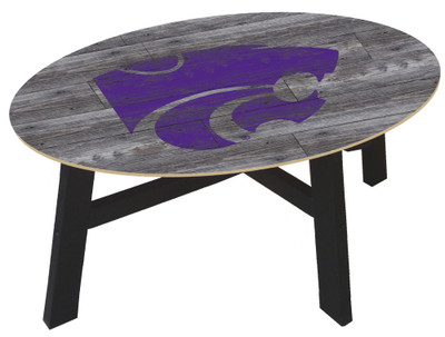 Kansas State Wildcats Distressed Wood Coffee Table |FAN CREATIONS | C0811-Kansas State