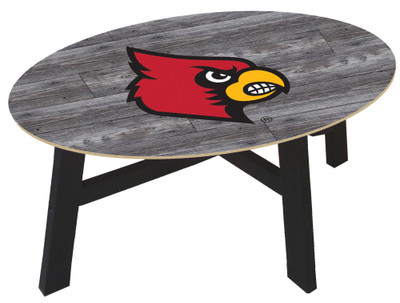 Louisville Cardinals Distressed Wood Coffee Table |FAN CREATIONS | C0811-Louisville