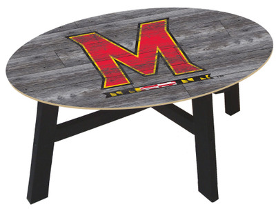 Maryland Terrapins Distressed Wood Coffee Table |FAN CREATIONS | C0811-Maryland