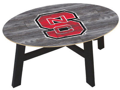 NC State Wolfpack Distressed Wood Coffee Table |FAN CREATIONS | C0811-NC State