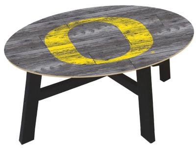 Oregon Ducks Distressed Wood Coffee Table |FAN CREATIONS | C0811-Oregon