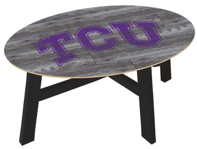 TCU Horned Frogs Distressed Wood Coffee Table |FAN CREATIONS | C0811-TCU