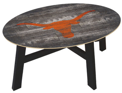Texas Longhorns Distressed Wood Coffee Table |FAN CREATIONS | C0811-Texas