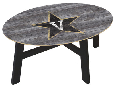 Vanderbilt Commodores Distressed Wood Coffee Table |FAN CREATIONS | C0811-Vanderbilt