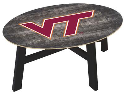 Virginia Tech Hokies Distressed Wood Coffee Table |FAN CREATIONS | C0811-Virginia Tech