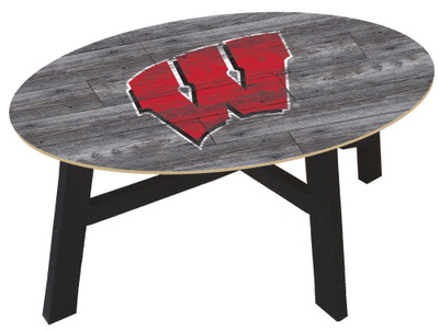Wisconsin Badgers Distressed Wood Coffee Table |FAN CREATIONS | C0811-Wisconsin