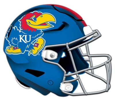 "Kansas Jayhawks Authentic Helmet Cutout 24"" Wall Art | FAN CREATIONS |  C0987-Kansas"