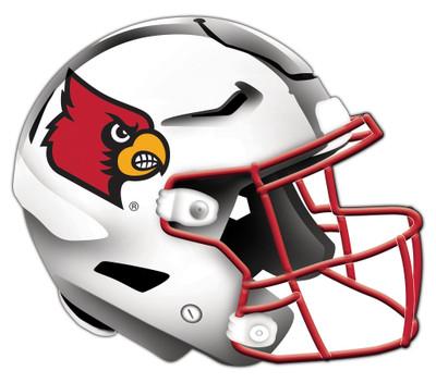 "Louisville Cardinals Authentic Helmet Cutout 24"" Wall Art | FAN CREATIONS |  C0987-Louisville"