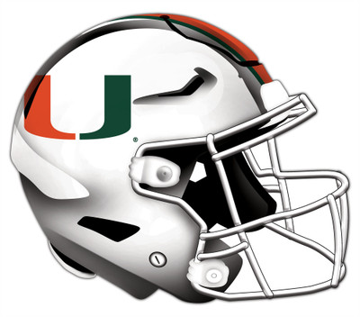 "Miami Hurricanes Authentic Helmet Cutout 24"" Wall Art | FAN CREATIONS |  C0987-Miami"