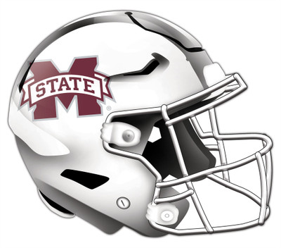 "Mississippi State Bulldogs Authentic Helmet Cutout 24"" Wall Art 
