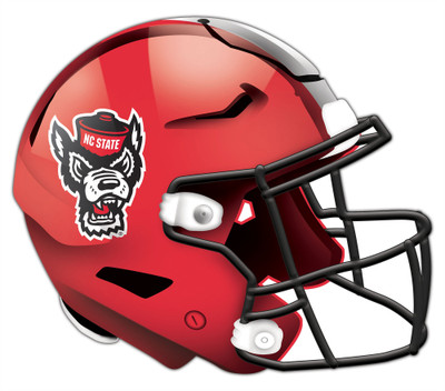 """NC State Wolfpack Authentic Helmet Cutout 24"""" Wall Art 