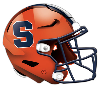 "Syrause Orange Authentic Helmet Cutout 24"" Wall Art 