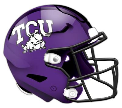 "TCU Horned Frogs Authentic Helmet Cutout 24"" Wall Art | FAN CREATIONS |  C0987-TCU"