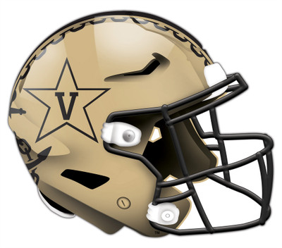 "Vanderbilt Commodores Authentic Helmet Cutout 24"" Wall Art 