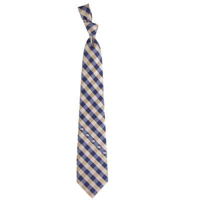 Georgia Tech Yellow Jackets Woven Poly Check Tie | Eagles Wings | 6226
