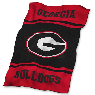 Georgia Bulldogs Ultrasoft Blanket | Logo Chair | 142-27