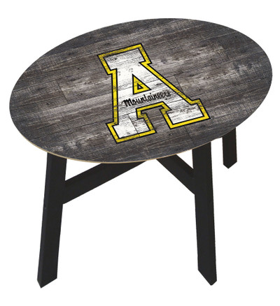 Appalachian State Mountaineers Distressed Wood Side Table |FAN CREATIONS | C0823-Appalachian State