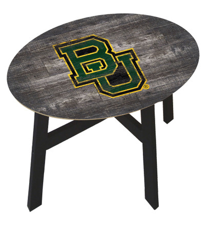 Baylor Bears Distressed Wood Side Table |FAN CREATIONS | C0823-Baylor