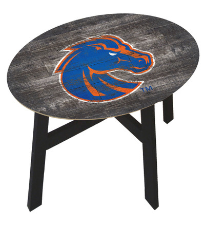 Boise State Broncos Distressed Wood Side Table |FAN CREATIONS | C0823-Boise State