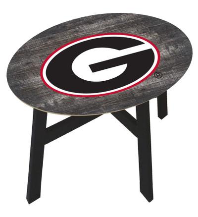 Georgia Bullldogs Distressed Wood Side Table  FAN CREATIONS   C0823-Georgia