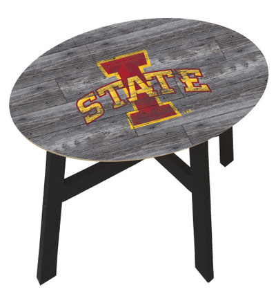 Iowa State Cyclones Distressed Wood Side Table |FAN CREATIONS | C0823-Iowa State