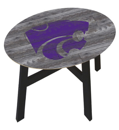 Kansas State Wildcats Distressed Wood Side Table |FAN CREATIONS | C0823-Kansas State
