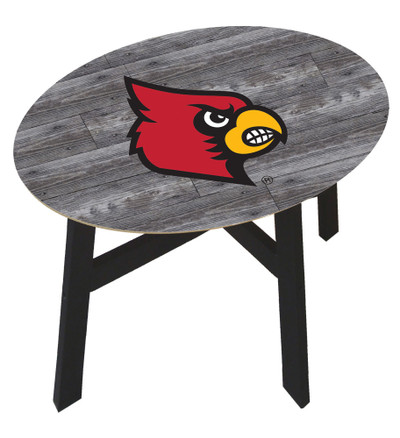 Louisville Cardinals Distressed Wood Side Table |FAN CREATIONS | C0823-Louisville