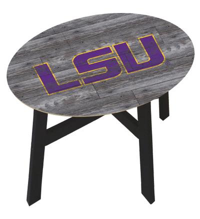 LSU Tigers Distressed Wood Side Table |FAN CREATIONS | C0823-LSU