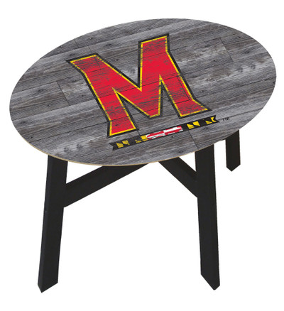 Maryland Terrapins Distressed Wood Side Table |FAN CREATIONS | C0823-Maryland