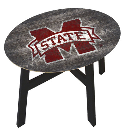 Mississippi State Bulldogs Distressed Wood Side Table |FAN CREATIONS | C0823-Mississippi State