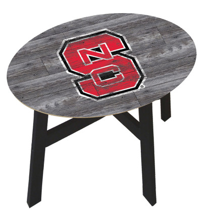 NC State Wolfpack Distressed Wood Side Table |FAN CREATIONS | C0823-NC State