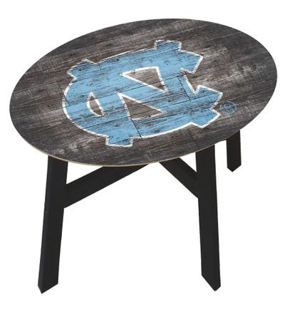UNC Tar Heels Distressed Wood Side Table |FAN CREATIONS | C0823-North Carolina