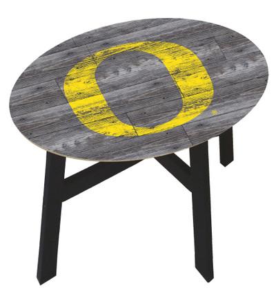 Oregon Ducks Distressed Wood Side Table |FAN CREATIONS | C0823-Oregon