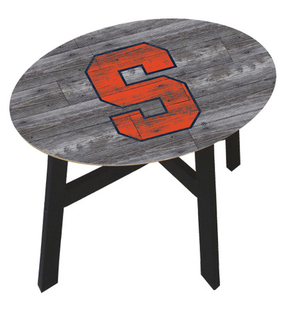 Syracuse Orange Distressed Wood Side Table | fan creations | C0823