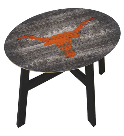 Texas Longhorns Distressed Wood Side Table |FAN CREATIONS | C0823-Texas