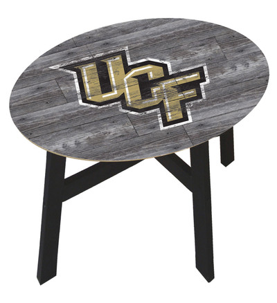 UCF Knights Distressed Wood Side Table |FAN CREATIONS | C0823-UCF