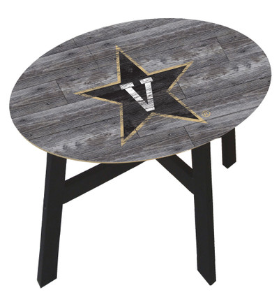 Vanderbilt Commodores Distressed Wood Side Table |FAN CREATIONS | C0823-Vanderbilt
