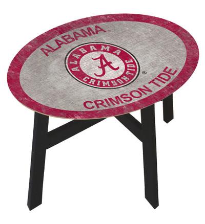 Alabama Crimson Tide Team Color Side Table   Fan Creations   C0825-ALABAMA