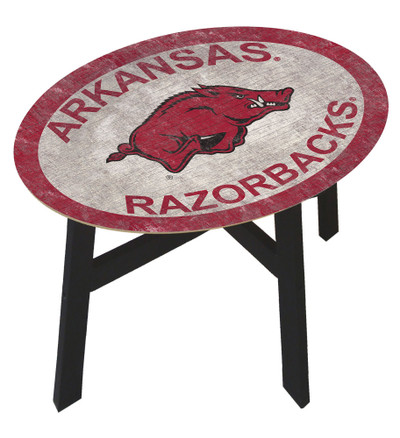 Arkansas Razorbacks Team Color Side Table  FAN CREATIONS   C0825-Arkansas