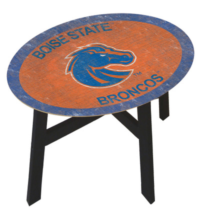 Boise State Broncos Team Color Side Table  FAN CREATIONS   C0825-Boise State
