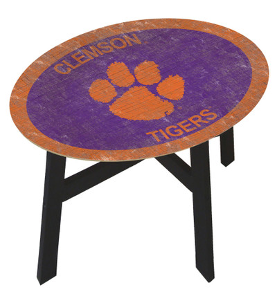Clemson Tigers Team Color Side Table  FAN CREATIONS   C0825-Clemson