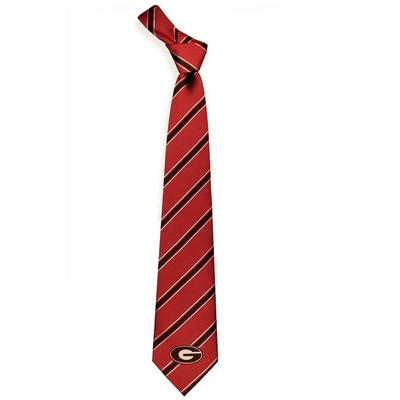 Georgia Bulldogs Woven Poly Tie | Eagles Wings | 6205