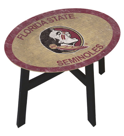 Florida State Seminoles Team Color Side Table  FAN CREATIONS   C0825-Florida State