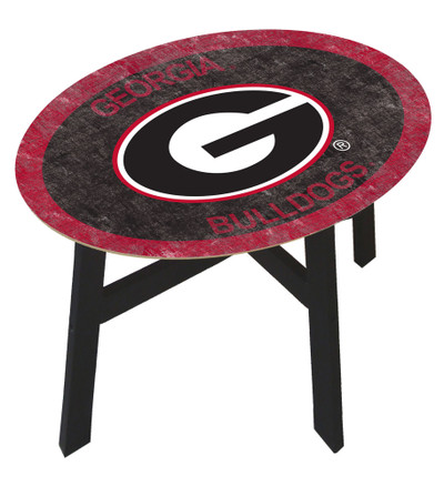 Georgia Bullldogs Team Color Side Table |FAN CREATIONS | C0825-Georgia