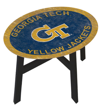 Georgia Tech Yellow Jackets Team Color Side Table |FAN CREATIONS | C0825-Georgia Tech