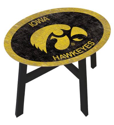 Iowa Hawkeyes Team Color Side Table |FAN CREATIONS | C0825-Iowa