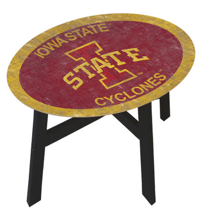 Iowa State Cyclones Team Color Side Table  FAN CREATIONS   C0825-Iowa State